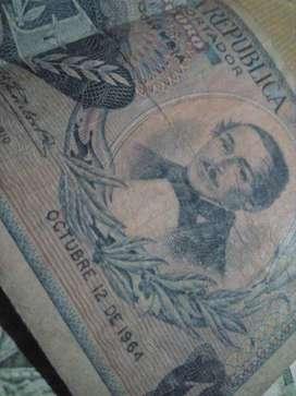 Billete 10 pesos 1965
