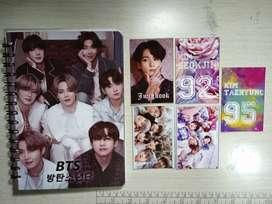 Cuadernos kpop: bts, blackpimk, obsequio popcarts