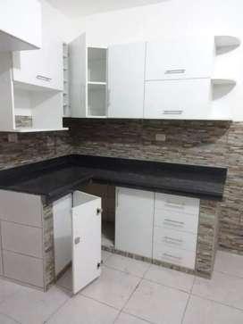 Todo tipo de muebles en melanine a medida, cocina, reposteros, clóset, drywall