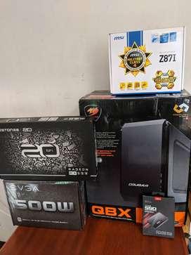 COUGAR QBX MINI PC CPU GAMING MINI ITX COMPACTO Y POTENTE!!