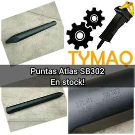PUNTAS PARA MARTILLOS HIDRAULICOS ATLAS COPCO SB302, SB202, SB452, PB210