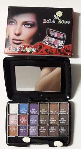 Maquillaje Sombra De Ojo X 18 Colores Con Espejo