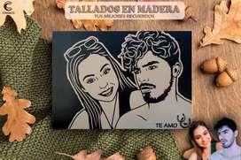Deccoracion Cuadros Talllados en Madera