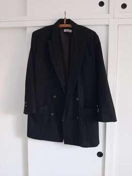 Saco paño negro