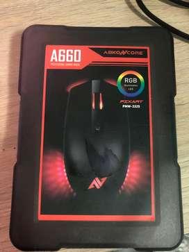 Mouse A660 mause gaming abko core  es de segunda