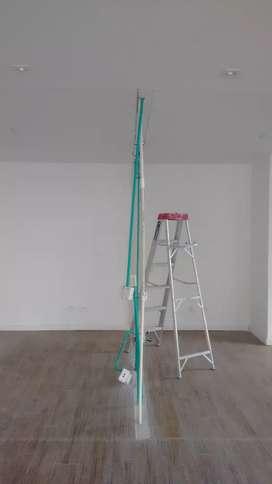 Soy Oficial en drywall y obras blancas instalasiones de aire y otras cosas más como plomería carpintería entre otros