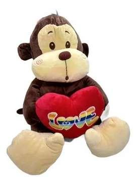 Juguete Peluche Mono Corazón Con Sonido Para Niñas