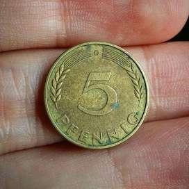 Alemania 5 Pfennig 1950 - Moneda
