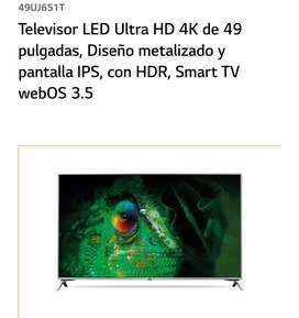 Vendo LG Smart TV UHD 4K de 49 pulgadas
