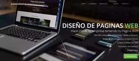Diseño y subo tu Pagina Web.. Lleva tu Empresa a otro nivel!! Somos LemonDesing..