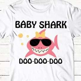 Remeras Baby Shark Personalizada