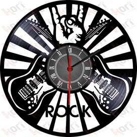 Reloj en vinilo LP musica/vinyl clock music design