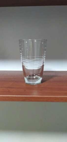 Vaso ondas cristal restaurante