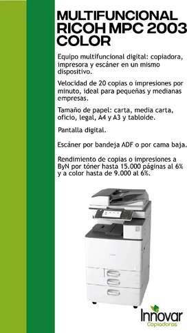 Vendo fotocopiadora multifuncional RICOH MPC 2503 Color