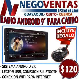 """RADIO DE CARRO ANDROID 9"""" CON CAMARA DE RETRO GRATIS"""