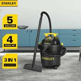 Aspiradora Stanley Para Líquidos - Sólidos 4hp Y 5 Galones
