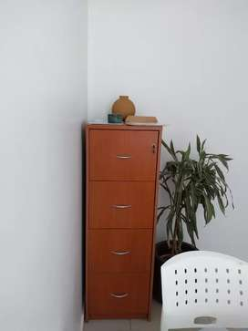 Archivero color marron