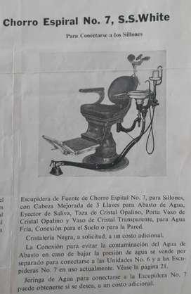 Vendo silla de odontología antigua