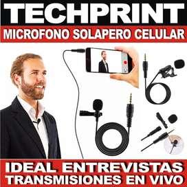 Micrófono Solapero Cableado para Transmisiones en Vivo