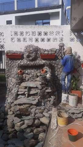 Se hacen fuentes de agua cascadas piletas para casas jardines y patios movibles y fijas a buen precio