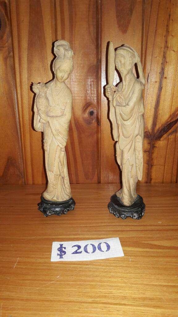 Estatuas Chinas de 30 Cm de Marfilina 0