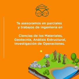 Asesoramos trabajos de analisis estructural, ciencias de los materiales, geotecnia, investigacion de operaciones