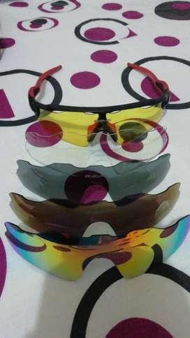 Gafas para ciclismo con lentes intercambiables