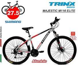 Bicicleta MAJESTIC M116 ELITE ARO275 grees - Shimano
