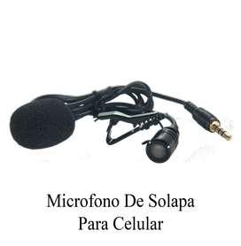 Microfono De Solapa Para Smartphone / Cable De 1,15mts Largo