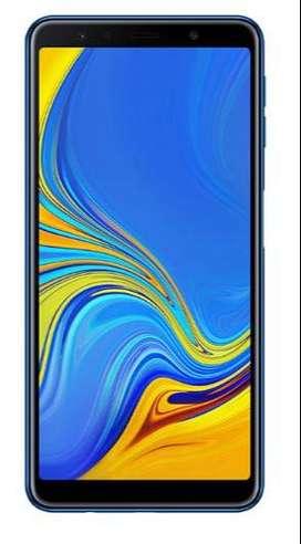 "Smartphone Samsung Galaxy A7 (2018) 64GB 4GB 6"" Desbloqueado - Azul"