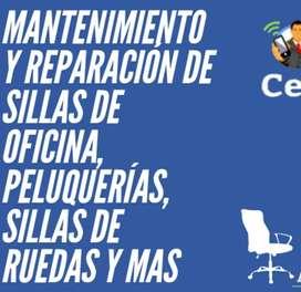 MANTENIMIENTO Y REPARACIÓN DE SILLAS DE OFICINA, PELUQUERÍAS, BAR, SILLAS DE RUEDAS Y MÁS