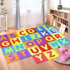 Tapete Fomy Niños Bebes Abecedario 26 Piezas