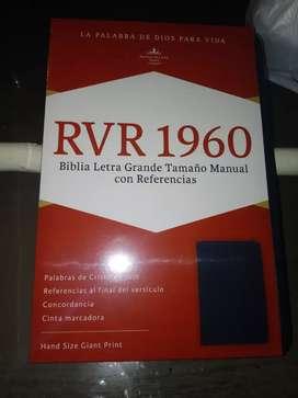 EN OFERTA Biblia RVR (Reyna Valera) 1960 Letra grande Tamaño Manual