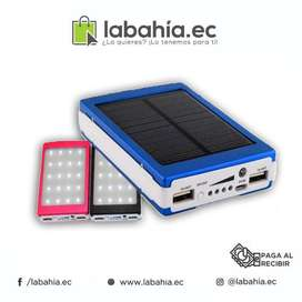 Power Bank Solar 20000mAh con linterna LED banco de bateria