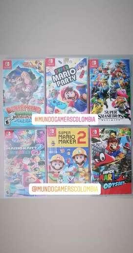 Juegos Nintendo Switch: Mario Odyssey / Mario Kart / Zelda / Fifa 20