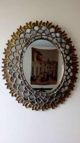Hp Espejo Antiguo Pan de Bronce