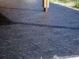 PISO PARA EXTERIORES INTERIORES Y BAJO GALERÍAS Baldosas 40 x 40 cm de hormigón espesor 2 cm.