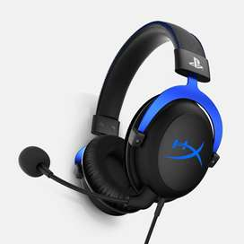 Auriculares HyperX Cloud , micrófono, conector 3.5mm, Negro / Azul.