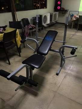 Gym banco para pecho y piernas