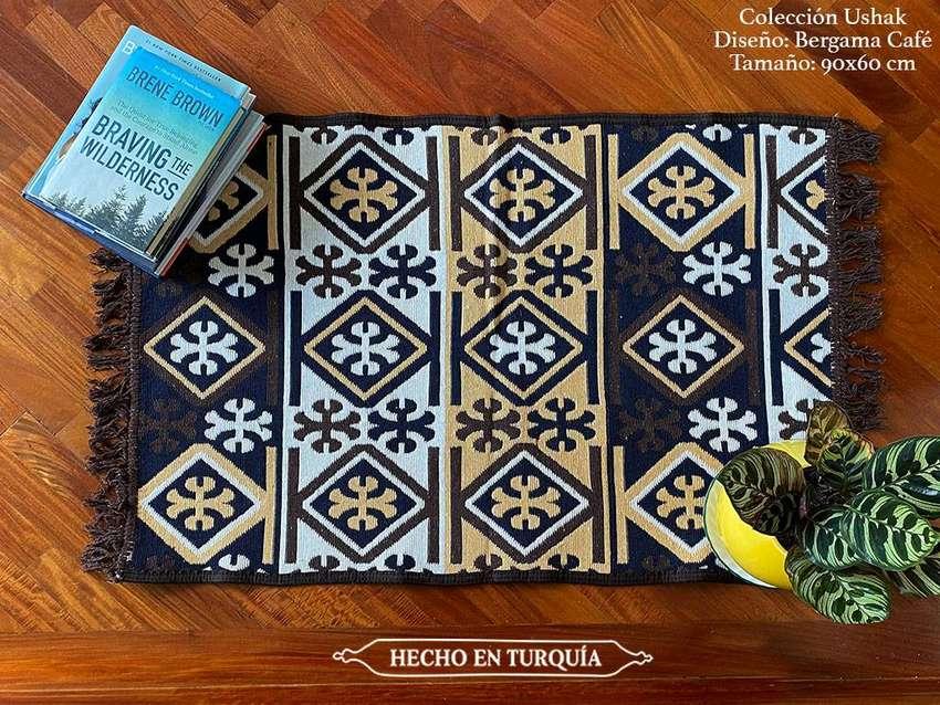 Tapete Kilim Diseño Ushak 90x60 cm - Bergama