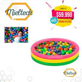 Piscina Inflable 114 X 25 Cm  100 Pelotas De Colores