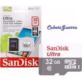 MicroSd Sandisk Ultra 32gb 48mbs *Nueva/Sellada Clase 10