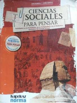 Ciencias sociales para pensar   1° secundaria
