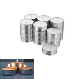 Velas Para Pebetero Decoración En Aluminio X 50 Unidades