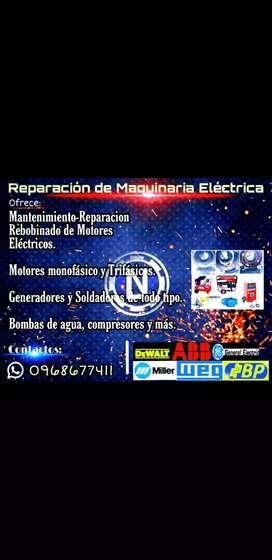 Motor electrico reparacion rebobinaje y mantenimiento de toda maquinaria electrica