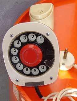 Telefono erickophone ericksoon diseño retro vintage 60s func buen estado 0