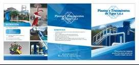 Plantas tratamiento de agua potable y residuales, tanques almacenamiento de agua y productos quimicos hasta 50 m3