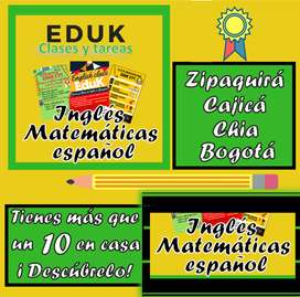 Clases de inglés , clases de matemáticas,  clases de física, clases de química Cajicá, Bogotá, Zipaquirá