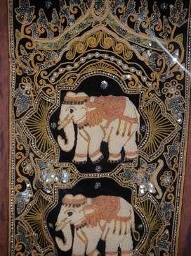 Adorno Hindu elaborado a mano.