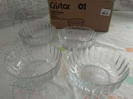 Set Ensaladeras X 4 Und Cristal Vidrio